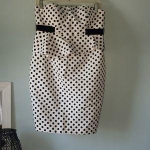 Donna Morgan Strapless polka dot Dress